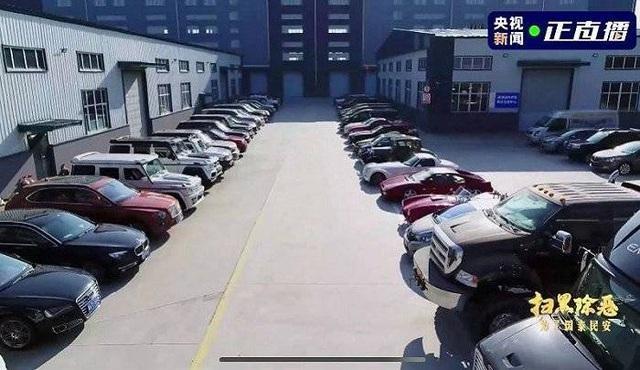 Dàn siêu xe của Lý Vĩ - cựu phó giám đốc Cục Điện lực Cáp Nhĩ Tân (Ảnh: CCTV).