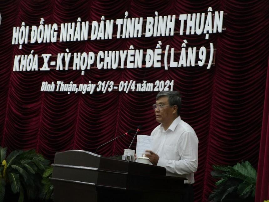 Ông Nguyễn Văn Phong - Tân Phó Chủ tịch UBND tỉnh Bình Thuận.