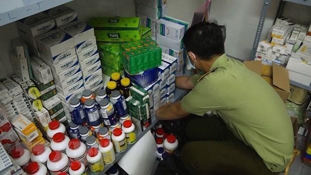 Số lượng lớn thuốc tân dược nghi nhập lậu bị phát hiện. (Ảnh: TTXVN phát).