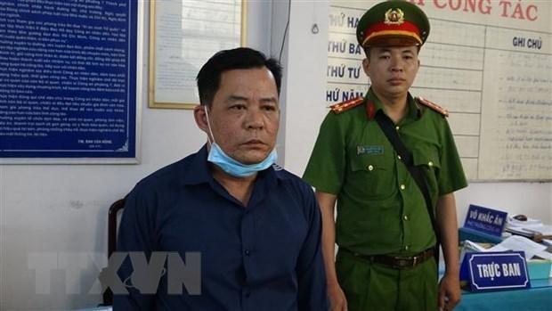 Đối tượng Nguyễn Ngọc Huy. (Ảnh Công Trí/TTXVN).