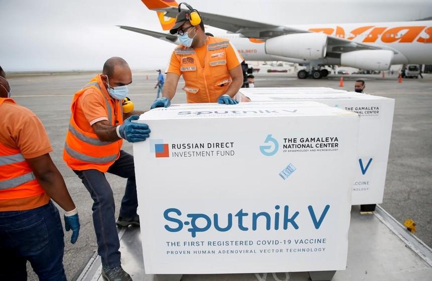 Vaccine Sputnik V của Nga được vận chuyển tới Venezuela. Nguồn: Reuters.
