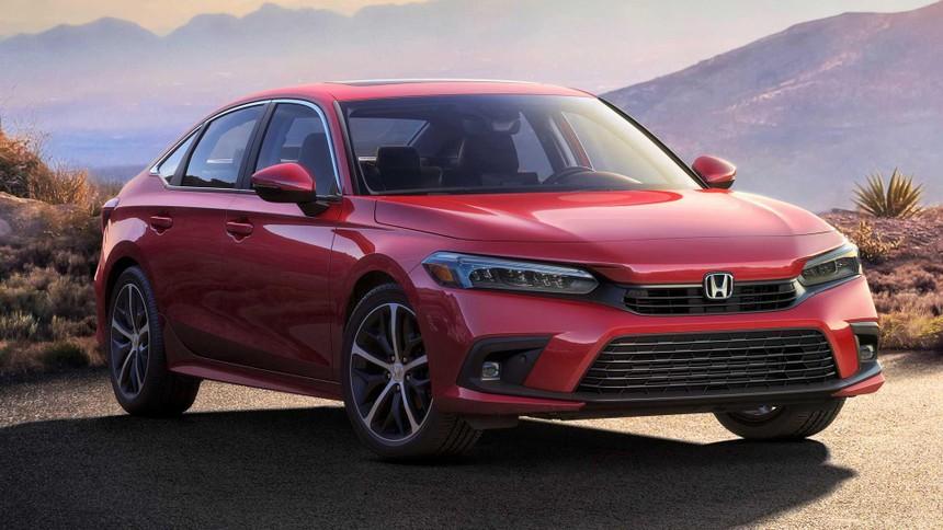Hình ảnh duy nhất của Honda Civic 2022 bản sản xuất mới được tiết lộ.