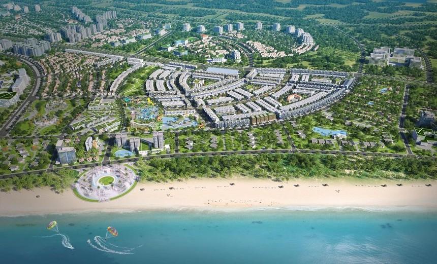 Phối cảnh dự án Khu đô thị Du lịch Sinh thái Nhơn Hội (Quy Nhơn, Bình Định) do Phát Đạt đầu tư và phát triển.
