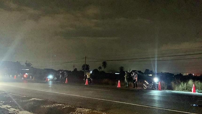 Hiện trường vụ tai nạn đêm 17/4.