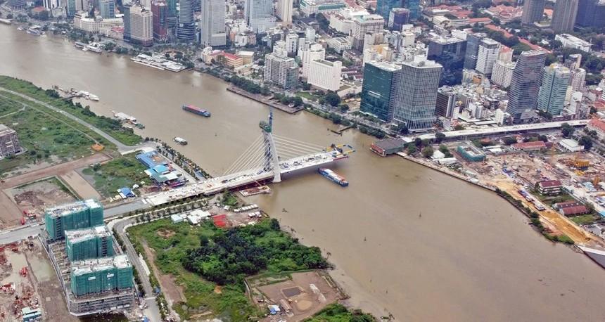 Cầu Thủ Thiêm 2 sẽ thi công trở lại trong tháng 4/2021.