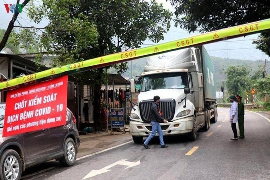 Chốt kiểm soát dịch Covid-19 tại Lai Châu.