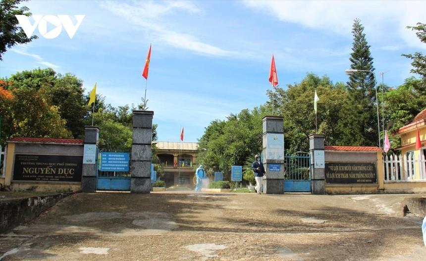 Tỉnh Quảng Nam cho học sinh nghỉ học để phòng chống dịch bệnh Covid-19.