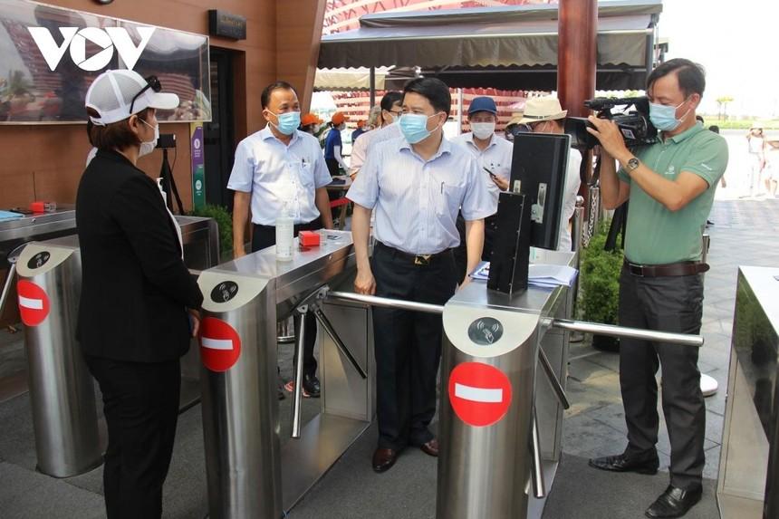 Lãnh đạo tỉnh Quảng Nam kiểm tra công tác phòng chống dịch Covd-19 tại các khu vui chơi trên địa bàn.