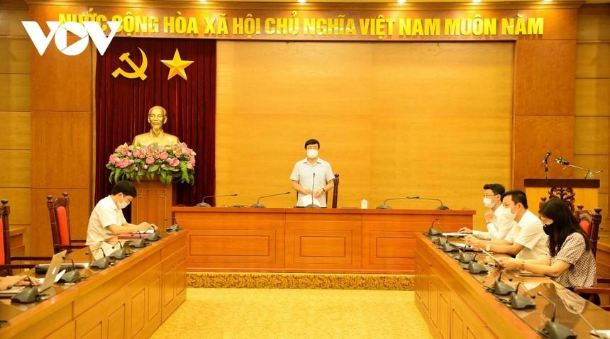 Ông Lê Duy Thành - Chủ tịch UBND tỉnh Vĩnh Phúc phát biểu tại cuộc họp báo.