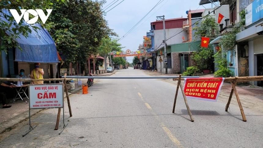 Chốt kiểm dịch tại xã Hiên Vân, huyện Tiên Du, tỉnh Bắc Ninh.