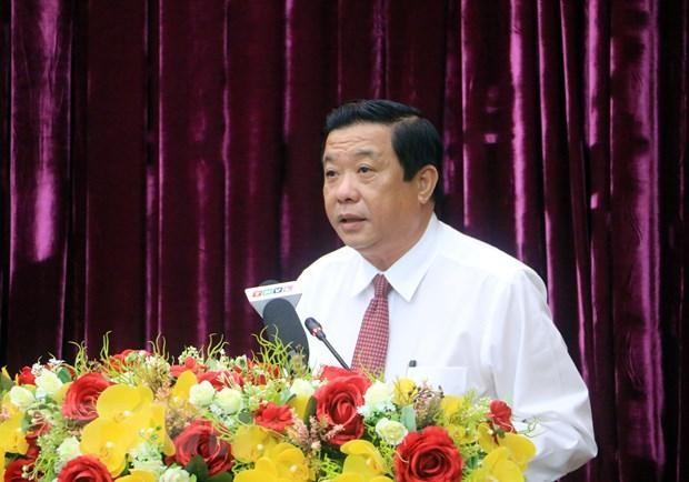 Tân Bí thư Tỉnh ủy Vĩnh Long Bùi Văn Nghiêm.