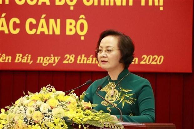 Đồng chí Phạm Thị Thanh Trà. (Ảnh: Việt Dũng/TTXVN).