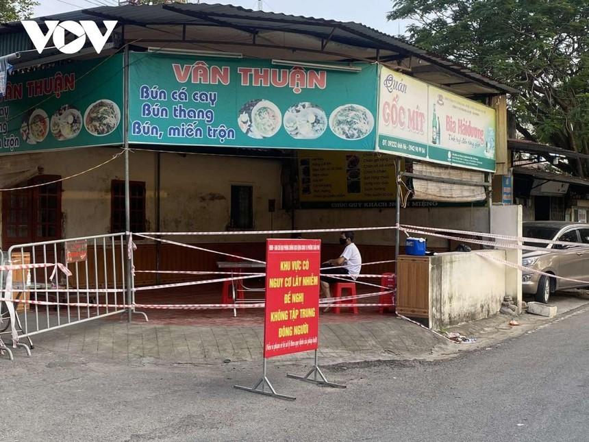 Dịch vụ ăn uống tại nhiều khu vực của TP Hải Dương (tỉnh Hải Dương) được tạm ngừng nhằm phục vụ công tác phòng chống dịch bệnh.