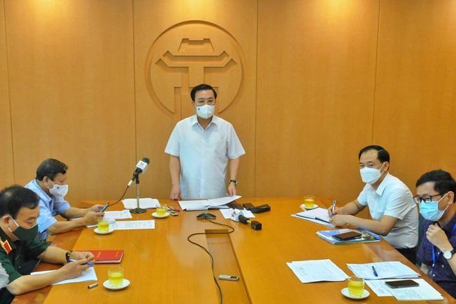 Quang cảnh buổi họp Ban Chỉ đạo phòng, chống dịch Covid-19 Hà Nội diễn ra sáng 3/6 (Ảnh: Thành Trung).