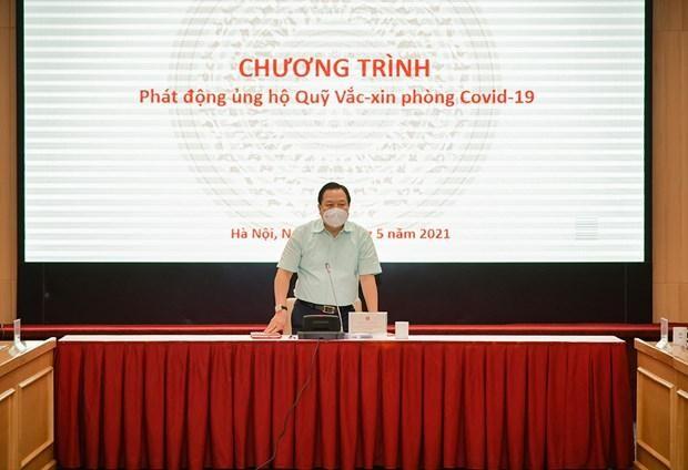 Chủ tịch Ủy ban Quản lý vốn nhà nước tại doanh nghiệp, ông Nguyễn Hoàng Anh phát động chương trình ủng hộ Quỹ vaccine phòng COVID-19.