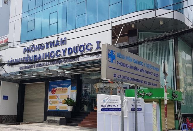 Phòng khám Bệnh viện Đại học Y Dược 1 đang bị tạm ngưng hoạt động vì có ca bệnh SARS-CoV-2 đến khám.