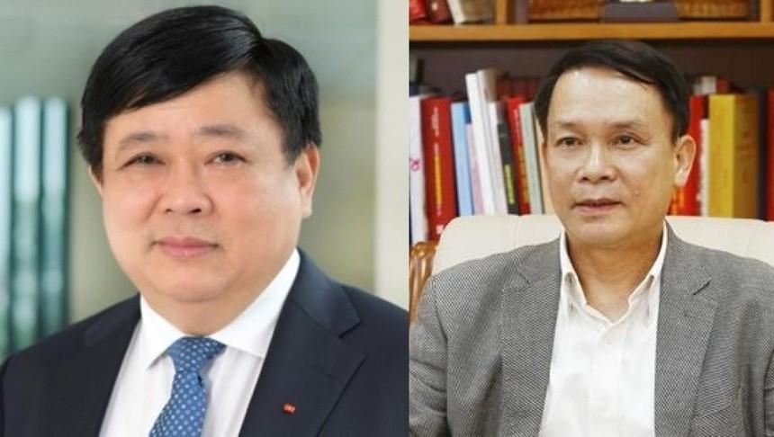 PGS.TS Nguyễn Thế Kỷ (ảnh trái) thôi giữ chức vụ Tổng giám đốc Đài Tiếng nói Việt Nam và ông Nguyễn Đức Lợi (ảnh phải) thôi giữ chức vụ Tổng giám đốc Thông tấn xã Việt Nam từ 1/6/2021.