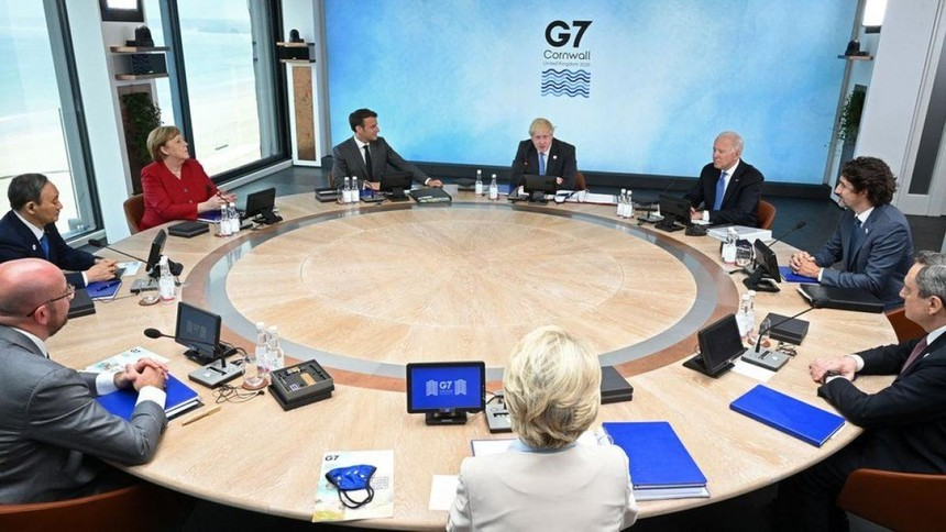 Hội nghị Thượng đỉnh G7 ở Cornwall, Anh. Ảnh: Getty.