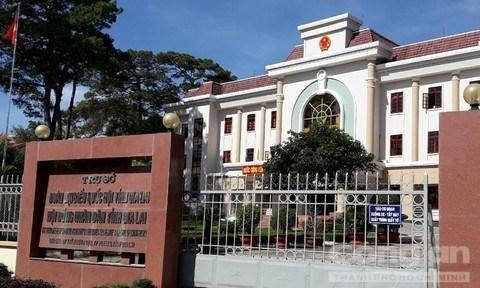 Trụ sở Đoàn đại biểu Quốc hội và Hội đồng Nhân dân tỉnh Gia Lai. (Nguồn: Công an Thành phố Hồ Chí Minh).