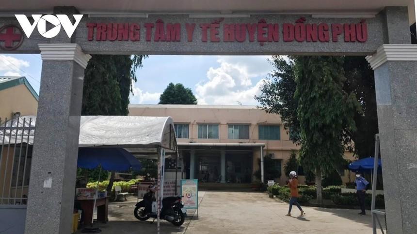 Trung tâm Y tế huyện Đồng Phú nơi bà Thái Thị Mỹ Hạnh công tác.