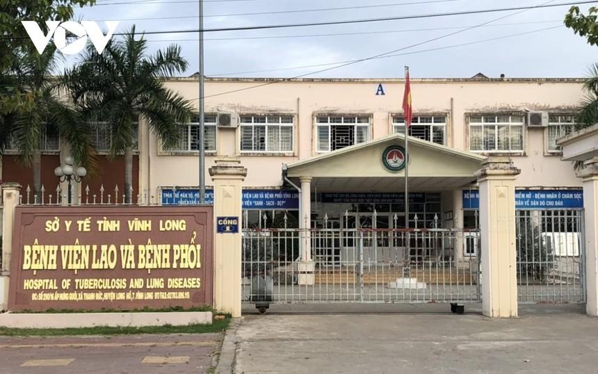 Bệnh viện Lao và bệnh phổi tỉnh Vĩnh Long nơi đang cách ly điều trị các bệnh nhân mắc Covid-19.
