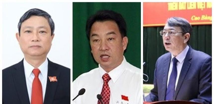 Từ trái sang phải: Chủ tịch UBND tỉnh Bình Dương Võ Văn Minh; Chủ tịch UBND tỉnh Vĩnh Long Lữ Quang Ngời; Chủ tịch UBND tỉnh Cao Bằng Hoàng Xuân Ánh.