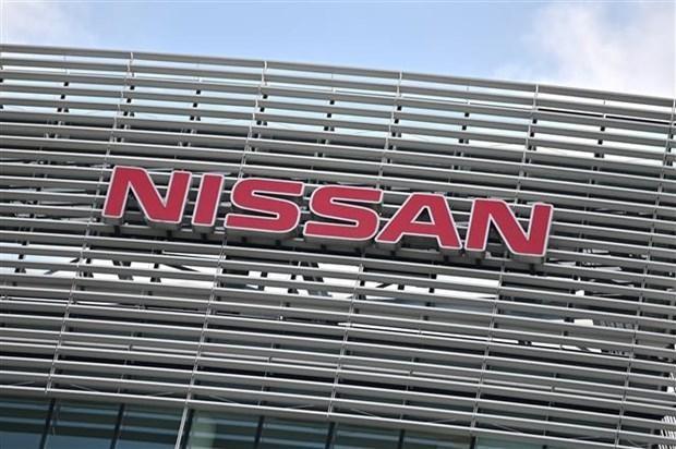 Biểu tượng của Nissan tại trụ sở của hãng ở Yokohama (Nhật Bản). (Ảnh: AFP/TTXVN).