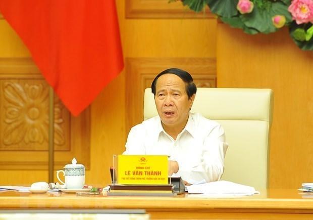 Phó Thủ tướng Lê Văn Thành làm Trưởng Ban Chỉ đạo Chương trình quốc gia về sử dụng năng lượng tiết kiệm và hiệu quả. (Ảnh: Minh Đức/TTXVN).