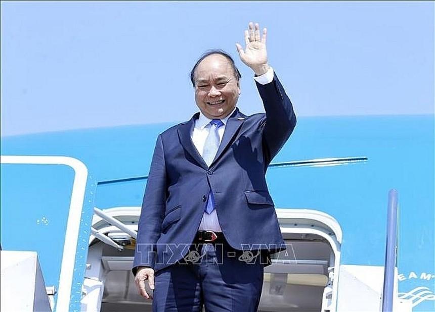 Chủ tịch nước Nguyễn Xuân Phúc đến thăm Cuba (Ảnh: TTXVN).