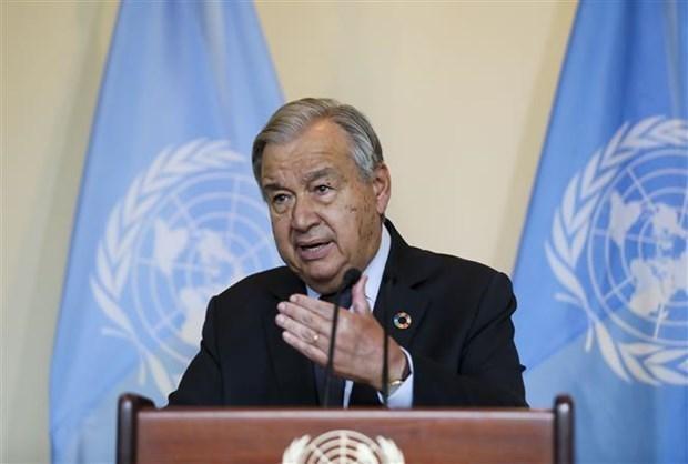Tổng thư ký Liên hợp quốc Antonio Guterres phát biểu tại cuộc họp Liên hợp quốc ở New York (Mỹ), ngày 20/9/2021. (Ảnh: THX/TTXVN).