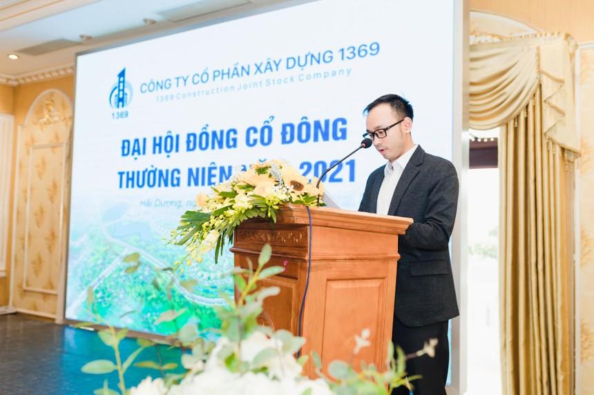 TGĐ Lê Tuấn Nghĩa phát biểu trong cuộc họp ĐHĐCĐ 2021.