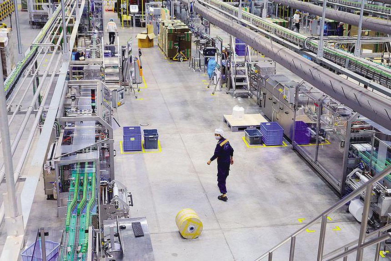 Sản xuất tại Nhà máy Nestlé Bông Sen (Hưng Yên). Ảnh: Đ.T.
