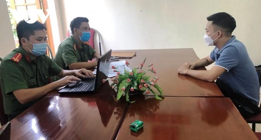 Nguyễn T.A khai nhận đăng tải thông tin lên trang facebook cá nhân chỉ để đùa giỡn.