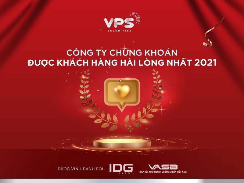 """Lần thứ 2 liên tiếp VPS nhận giải thưởng """"Công ty Chứng khoán được khách hàng hài lòng nhất""""."""