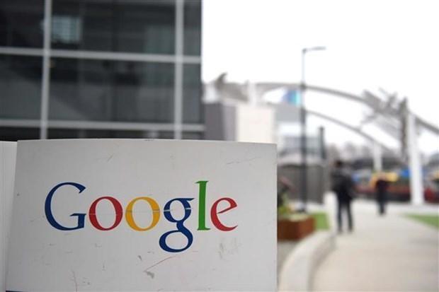 Biểu tượng của Google tại Mountain View, California, Mỹ. (Ảnh: AFP/TTXVN).