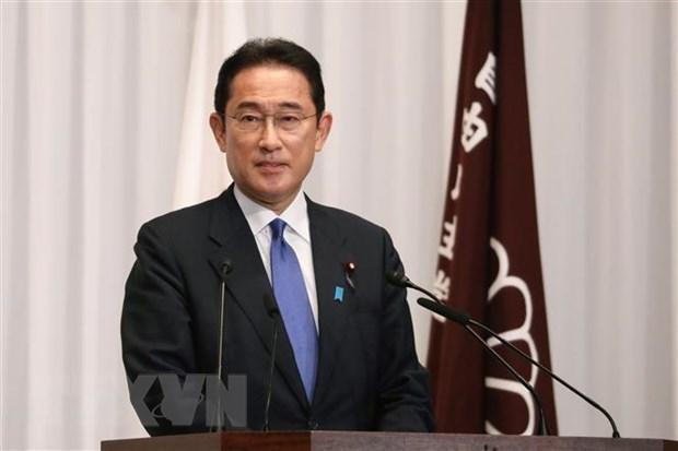 Ông Fumio Kishida tại cuộc họp báo ở Tokyo, sau khi được bầu làm Chủ tịch đảng Dân chủ Tự do (LDP) ngày 29/9. (Ảnh: THX/TTXVN).