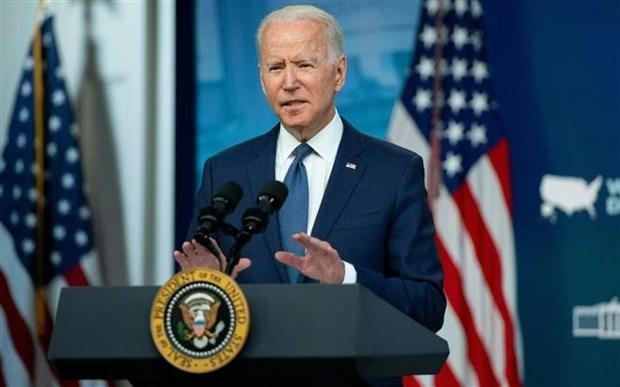 Tổng thống Mỹ Joe Biden phát biểu tại Nhà Trắng. (Ảnh: AFP/TTXVN).