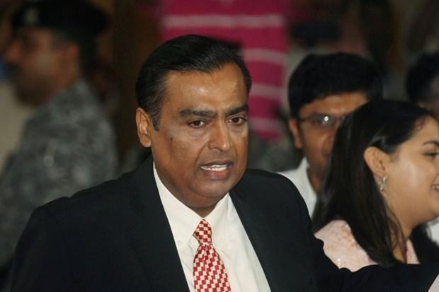 Tài sản của ông Mukesh Ambani hiện nay là 100,6 tỷ USD, sau khi tăng thêm 23,8 tỷ USD trong năm nay. (Nguồn: straitstimes.com).