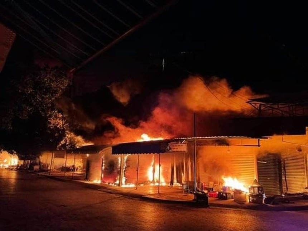 Hiện trường vụ hỏa hoạn. (Nguồn: dantri).