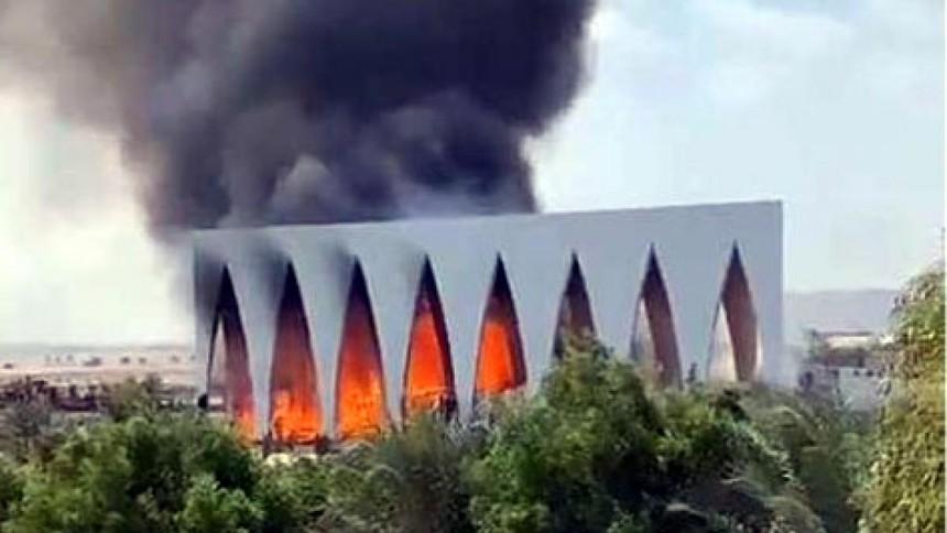 Cháy lớn tại liên hoan phim El Gouna Ai Cập. Ảnh Ahramonline.