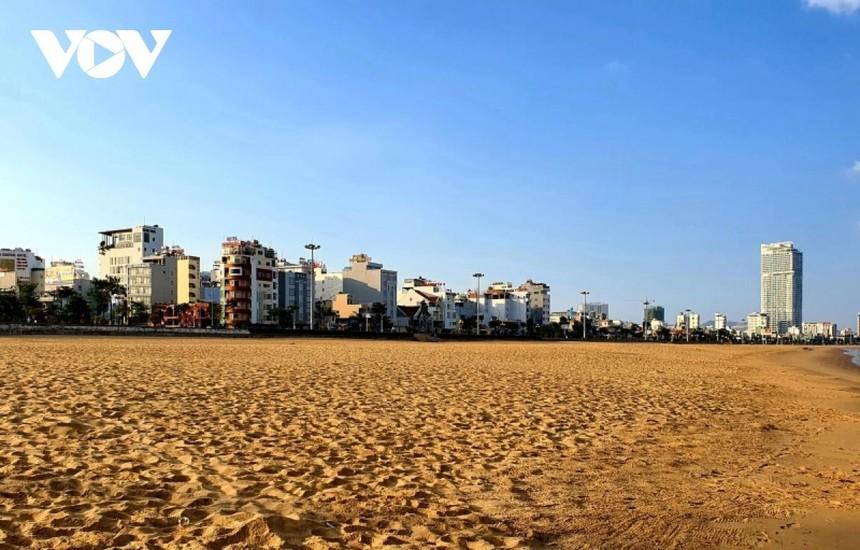 Bãi biển tại thành phố Quy Nhơn.