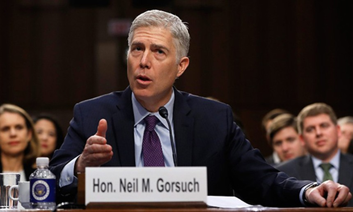 Ứng viên thẩm phán toà án tối cao Mỹ Neil Gorsuch. Ảnh: CNN