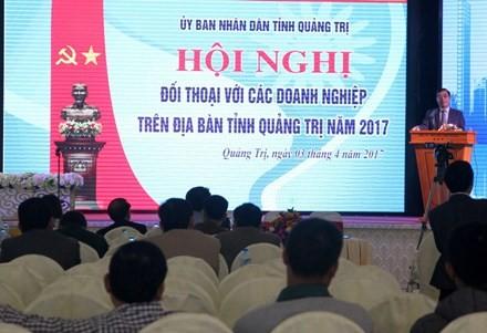 Hội nghị đối thoại với doanh nghiệp do UBND tỉnh Quảng Trị tổ chức.