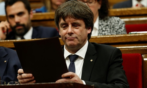 Lãnh đạo Catalonia Carles Puigdemont. Ảnh:Reuters.
