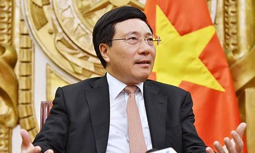 Phó thủ tướng Phạm Bình Minh. Ảnh:Giang Huy.
