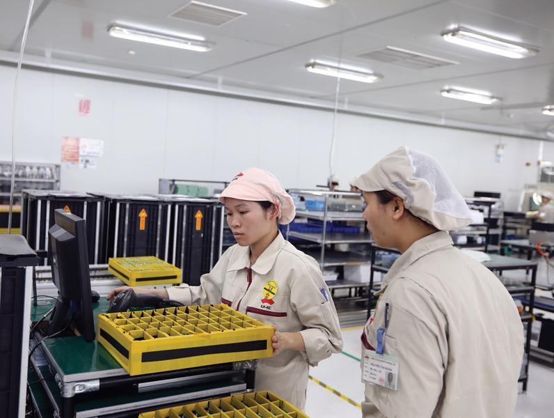 Năm 2019 là năm thứ hai, nền kinh tế đạt tương đối đồng bộ các mục tiêu tổng quát được Quốc hội đề ra. Trong ảnh: Nhà máy của UMC Electronics tại Hải Dương. Ảnh: Đ.T