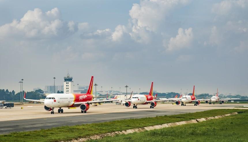 Các đường bay đi, đến Đài Loan và Hồng Kông của Vietjet khai thác bình thường