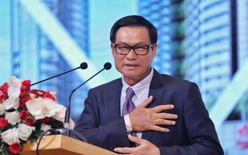 Ông Nguyễn Bá Dương tại cuộc họp Đại hội đồng cổ đông Coteccons hồi tháng 6/2020