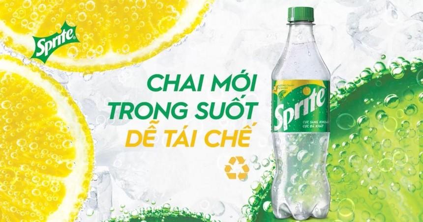 Sprite ngừng sử dụng chai nhựa xanh, chuyển sang chai nhựa PET trong suốt tại Việt Nam