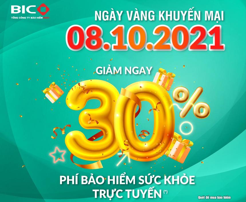 BIC giảm 30% phí bảo hiểm sức khoẻ trực tuyến